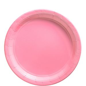 Pink Paper Lunch Plates 20ct