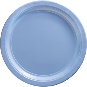 Pastel Blue Paper Dinner Plates 20ct