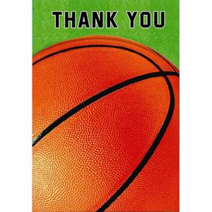 Basketball Fan Thank You Cards 8ct