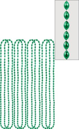 Metallic Green Bead Necklaces 8ct