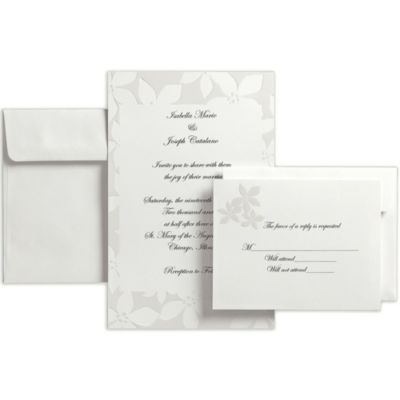 Tropical Flower Printable Wedding Invitations Kit 50ct
