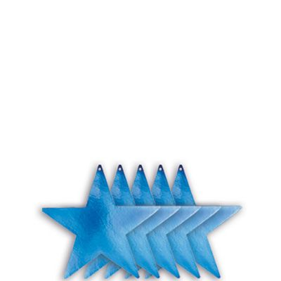 Small Royal Blue Star Cutouts 5ct