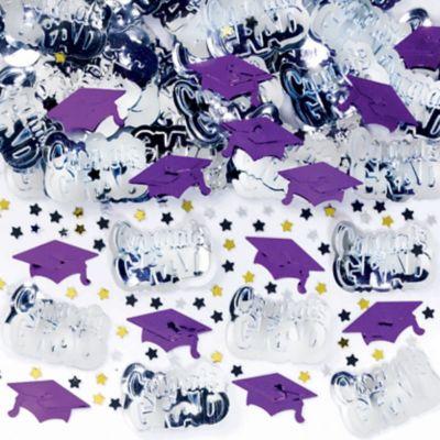 Metallic Purple Graduation Confetti