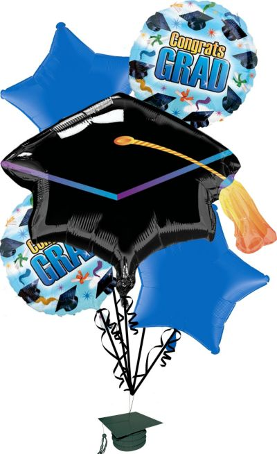 Graduation Balloon Bouquet 5pc - Grad Spirit