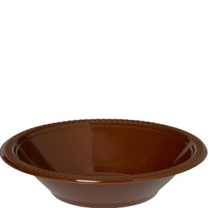 Chocolate Brown Plastic Bowls 20ct