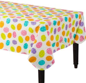 Easter Egg Flannel-Backed Vinyl Table Cover