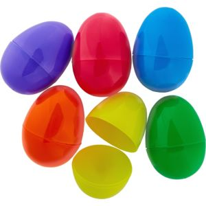 Multi-Colored Fillable Easter Eggs 6ct