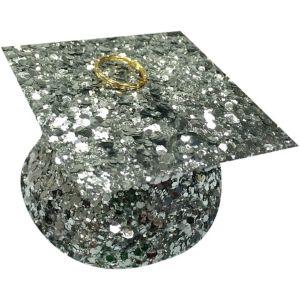 Silver Glitter Graduation Balloon Weight