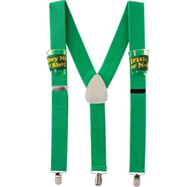 St. Patrick's Day Drinking Suspenders