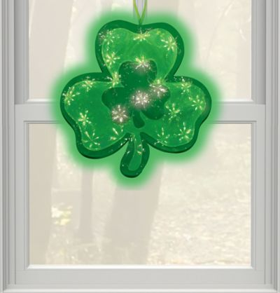 St. Patricks Day Holographic Window Sculpture