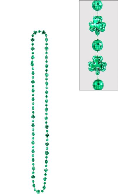 St. Patrick's Day Shamrock Bead Necklace