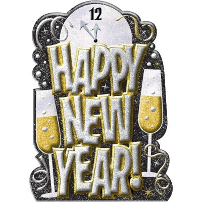 3D Glitter Happy New Year Cutout