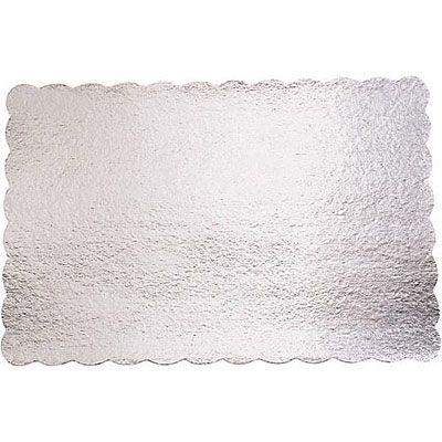 Silver 14in x 21in Cardboard Platter