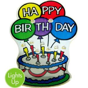 Light-Up Birthday Cake Pin