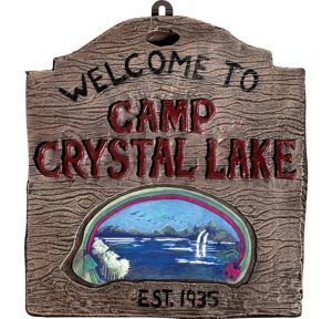 Welcome to Camp Crystal Lake Sign