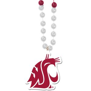 Washington State Cougars Pendant Bead Necklace