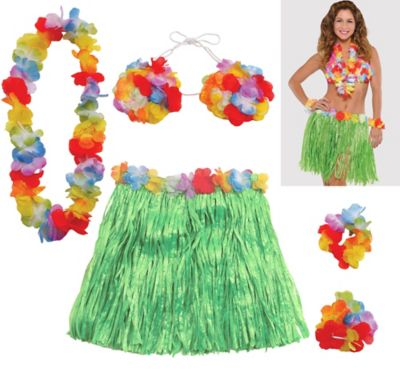 Adult Hula Skirt Kit 5pc