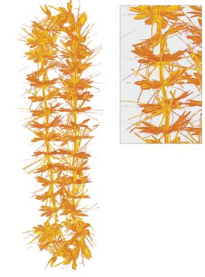Orange Tinsel Lei