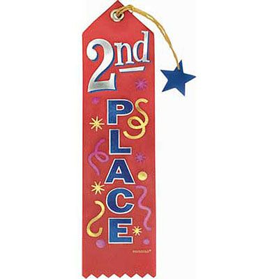 Second Place Recognition Ribbon
