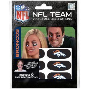 Denver Broncos Eye Black Stickers 6ct