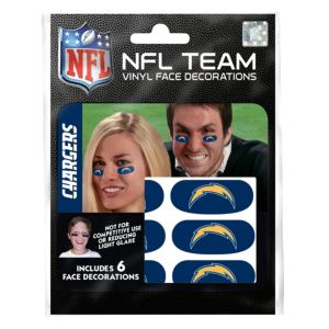 Los Angeles Chargers Eye Black Stickers 6ct