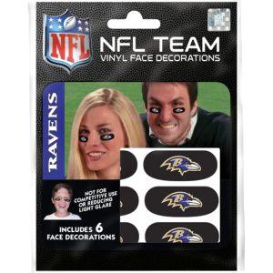 Baltimore Ravens Eye Black Stickers 6ct