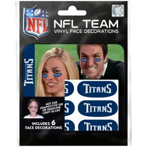Tennessee Titans Eye Black Stickers 6ct