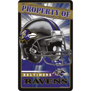 Property of Baltimore Ravens Sign