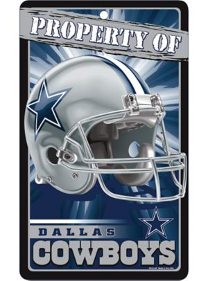 Property of Dallas Cowboys Sign