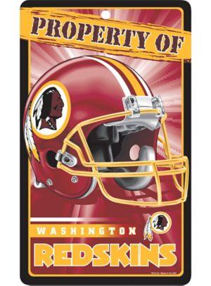 Property of Washington Redskins Sign