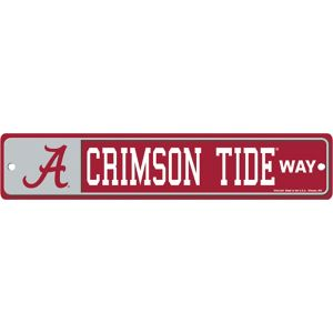 Alabama Crimson Tide Street Sign