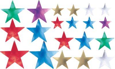 Multi Color Star Cutouts Assortment 20ct