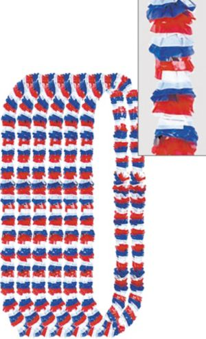 Patriotic Red, White & Blue Leis 12ct