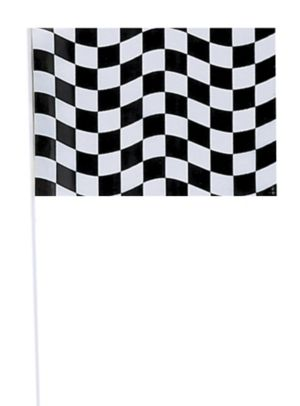 Black and White Checkered Flag 6in x 9in