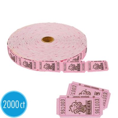 Single Roll Beer Tickets 2000ct