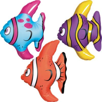 Inflatable Tropical Fishes 3ct