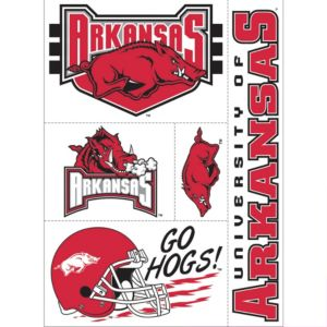 Arkansas Razorbacks Decals 5ct