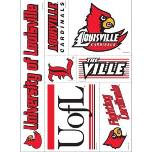 Louisville Cardinals Decals 7ct