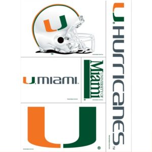 Miami Hurricanes Decal Cling 11in X 17in