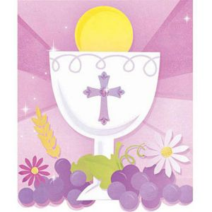 Girl's First Communion Invitations and Thank You Notes Combo Pack 20ct