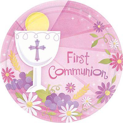 Girl's First Communion Dessert Plates 18ct
