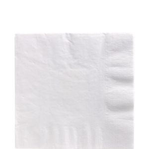 White Lunch Napkins 125ct