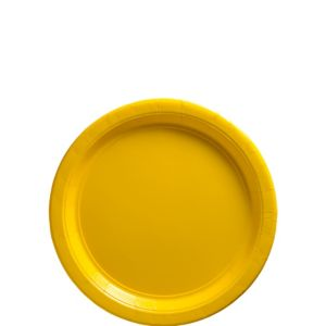 Big Party Pack Sunshine Yellow Paper Dessert Plates 50ct
