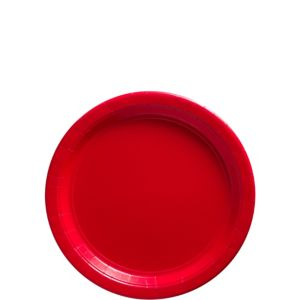 Big Party Pack Red Paper Dessert Plates 50ct