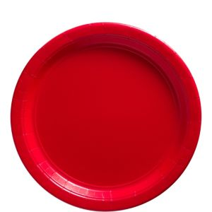 Big Party Pack Red Paper Lunch Plates 50ct