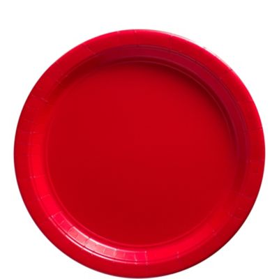 Red Paper Lunch Plates 50ct