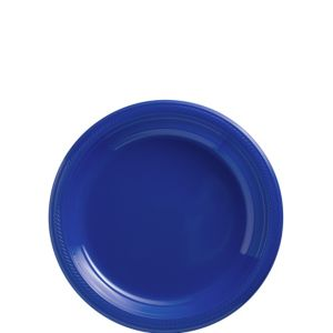 Big Party Pack Royal Blue Plastic Dessert Plates 50ct