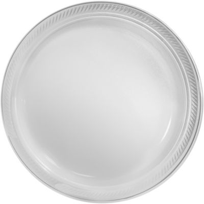 CLEAR Plastic Dinner Plates 50ct