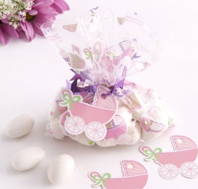 Pink Mini Baby Shower Favor Bag Kit 24ct