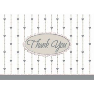 Glitter Formal Affair Thank You Notes 8ct